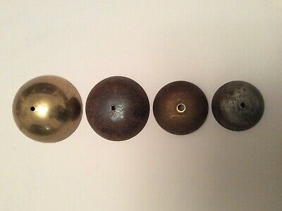 4 Antique / Vintage Clock Bells