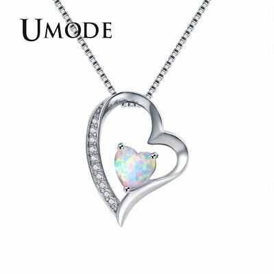 UMODE Unique Fashion Korea Women Chain Pendant Necklaces Nature Fire Tiny Heart