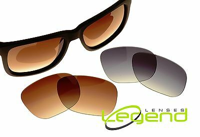 b99b6f07a Gray & Brown Gradient POLARIZED Replacement Lenses for RayBan JUSTIN 54mm  RB4165