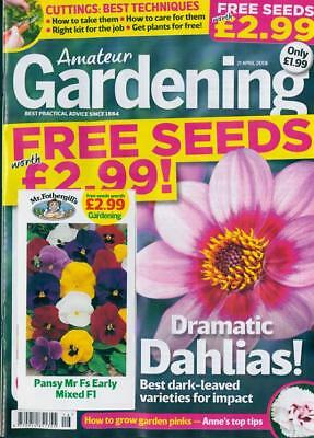 AMATEUR GARDENING MAGAZINE ISSUE 21st APRIL 2018 WITH FREE SEEDS ~ NEW ~
