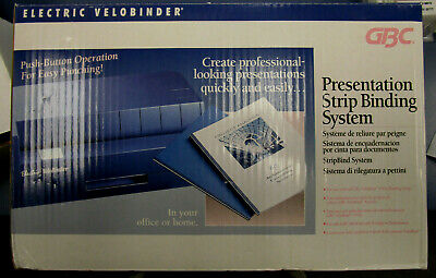 GBC Electric binding system in box with supplies