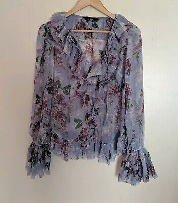 V By Very Floral Blouse Size 8