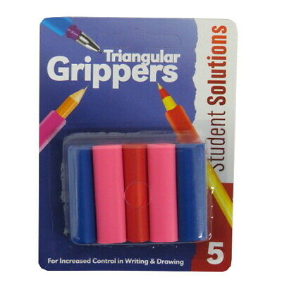 Student Solutions Pen & Pencil Grippers, Pack of 5 - 3 Styles to Choose From