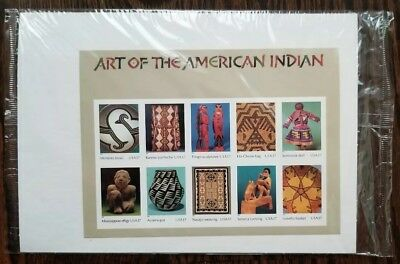 US #3873 Souvenir Sheet of 10 Art of the American Indian 37c 2004 Stamp Sealed