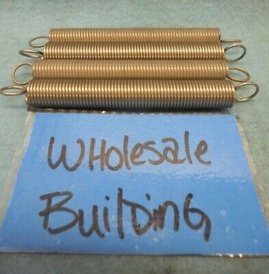 """Extension Spring 3.9"""" Free Length, 0.05"""" Wire Dia, 0.43"""" Od, Lot Of 4"""