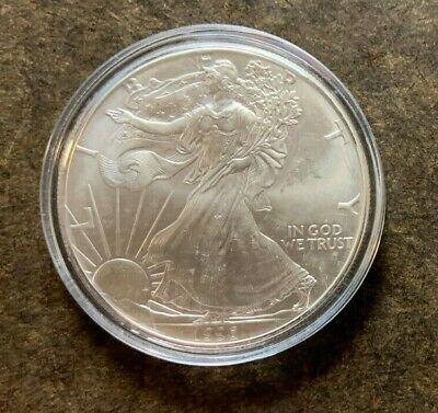 1996 American Silver Eagle $1 Dollar Coin - Key Date - No Reserve