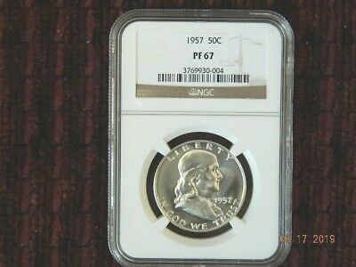 1957 Franklin Half Dollar Proof 50C Ngc Pf 67