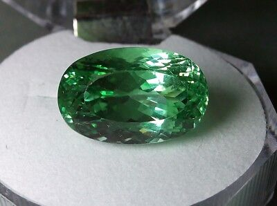 Beautiful Gem - Big Natural Green Faceted Spodumene - 14,65 cts - Afghanistan