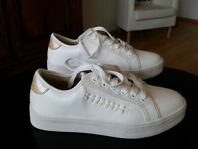 detailed pictures a7a83 1f135 MODISCHE SNEAKER WEISS - MUSTHAVE - NEU!! o. Etikett - Gr. 37
