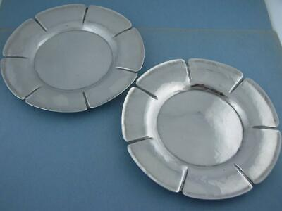 pr Sterling ARTS & CRAFTS Dishes JOEL F HEWES Titusville PA Hand Made ~ 10.32ozt