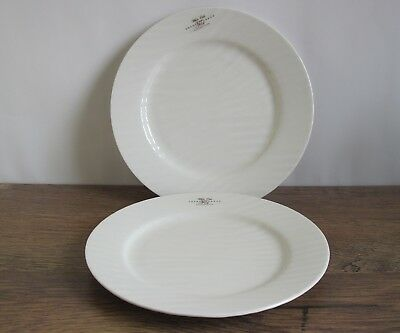 2 x NEW Sophie Conran Portmeirion White Oak Side Plates (approx 22 cm).