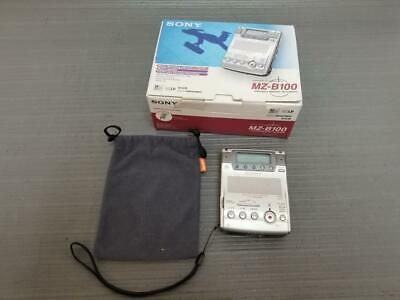 Sony MZ-B100 Portable Stereo MiniDisc Recorder 1MD w/ Box & Pouch