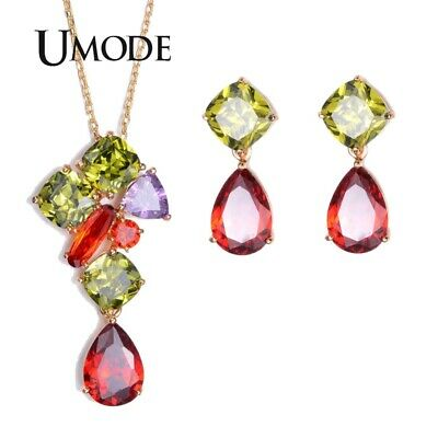 UMODE Gold-Color Jewelry Set for Fashion Woman Including Cubic Zriconia
