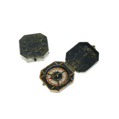 2pcs Halloween Cosplay Pirate Compass Prop Fake Compass Captain Costume Toy FG