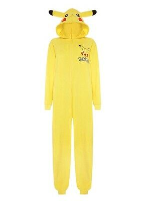 BODYSUIT: Pokemon Pikachu Fancy Dress Pajama Sleep SUIT Medium HALLOWEEN