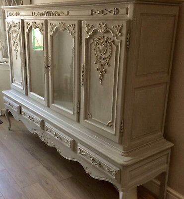 Large Louis XV French Style Display Cabinet, Cupboard, TV Cabinet