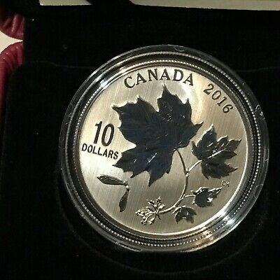 2016 $10 Silver Canadian Maple Leaves RCM Coin 22531/30000