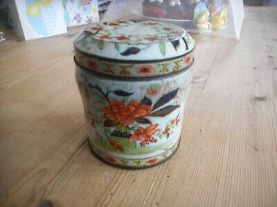 Old decorative tin,slightly Oriental.