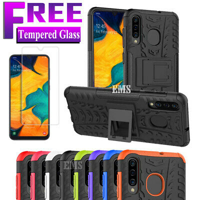 Samsung Galaxy A50 A20 A30 A70 Heavy Duty Rugged Case, Shockproof Bumper Cover
