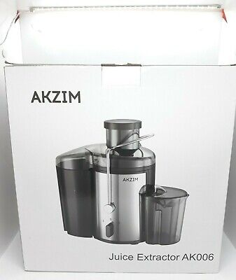 Akzim Fruit / Vegetable Juicer Extractor AK006 Wide Mouth 400w Dual Speed - NEW