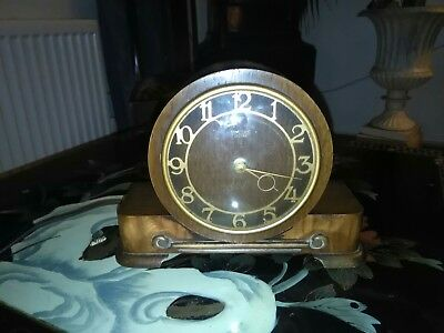 Vintage Smiths Sectric Mantle Clock Brass Frame
