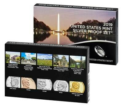 2019-S 10 Coin SILVER Proof Set w/box & COA U.S. Mint (NO EXTRA W CENT) ~ LIVE