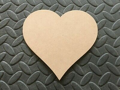 "100 MDF Hearts Shapes Wooden Blank Embellishments 4"" With Hanging Hole Options"