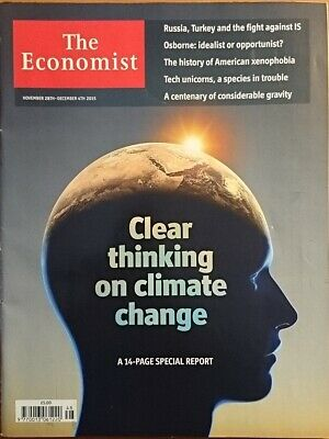 The Economist Magazine, Dec 2015 - Clear Thinking on Climate Change