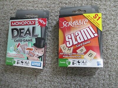 Vintage Scrabble Slam And Monopoly Deal Card Game  2 For 1 Price Nrfb