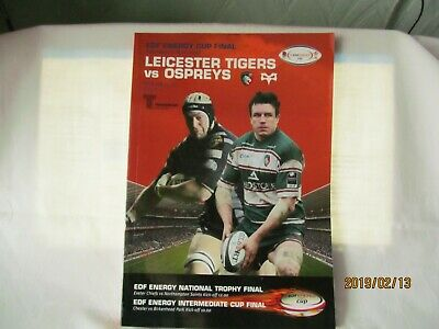 Leicester Tigers v Ospreys. Rugby Union. April 2008.