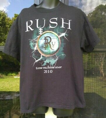 RUSH Time Machine Tour 2010 (Adult Large) Black Tshirt Concert Touring Tee