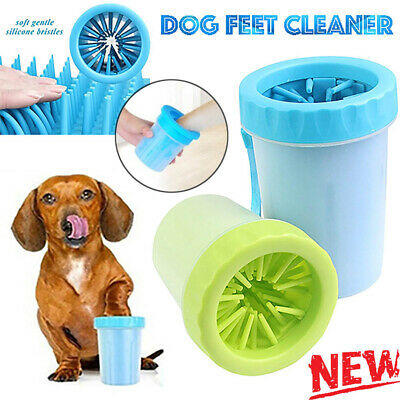 Portable Dog Paw Cleaner Pet Cleaning Brush Cup Dog Foot Cleaner Feet Washer YJ