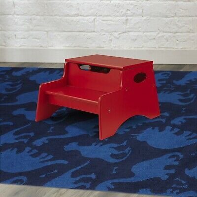 Pleasant Vintage Childs Red Wooden Step Stool This Little Stool Is Gmtry Best Dining Table And Chair Ideas Images Gmtryco