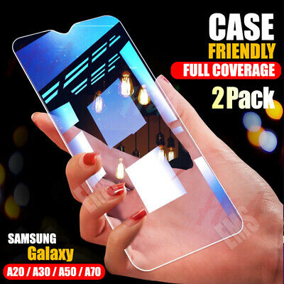 2X Full Coverage Tempered Glass Screen Protector Samsung Galaxy A20 A30 A50 A70
