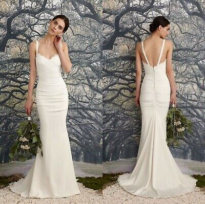 0f4ae62177a1 Nicole Miller Tonya Women's Wedding Dress Bridal Gown Antiqu White Size 2  $1200