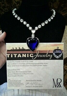 Titanic Heart Of The Ocean Necklace Pididdly Links By Michael Allen Celine Dion