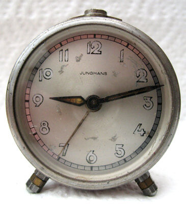 INTERESTING RARE JUNGHANS WWII ALARM CLOCK - c1940s