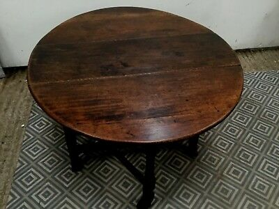 Antique  Georgian 18th Century ? oak gate leg drop leaf dining table
