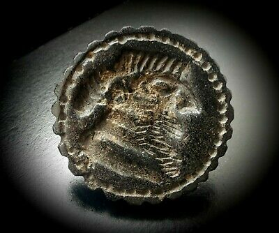 Large Near Eastern Stone Carved Stamp Seal -  King Gilgamesh 800 BC - 200 AD