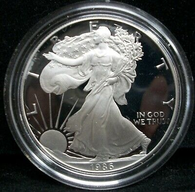 1986-S American Eagle (1oz) Proof Silver Bullion Coin NO BOX OR COA JUST CAP