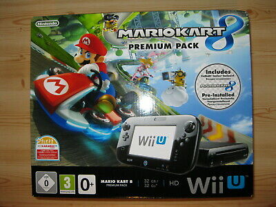 Nintendo Wii U 32Go noire premium pack Mario Kart 8, pack neuf, non ouvert