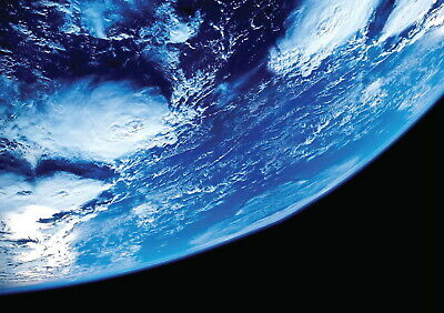 146149 Planet Earth From Space Horizon Decor Wall Poster Print UK