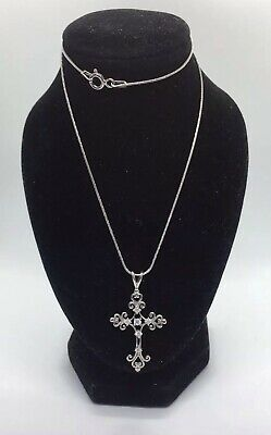 Vintage Silver 925 Necklace With Cross