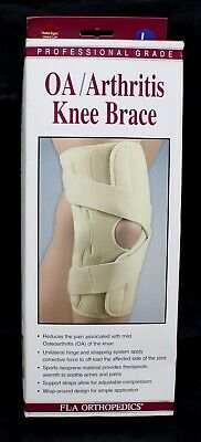 5f78bec3aa Fla Orthopedics 37-151Lgbeg Oa & Arthritis Knee Brace Right - Lateral Left  Beige