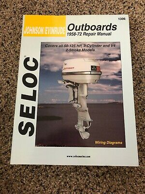 Used Seloc Johnson/Evinrude Outboards 1958-72 Repair Manual 1306