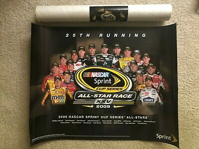 NASCAR Sprint Cup Series Anniversary All Star XXV Race 2009 poster 21x16 large