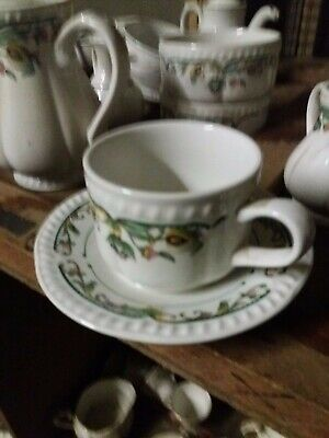 Churchill Buckingham Sumatra Stacking Teacup and Saucer, Catering Quality x 2.