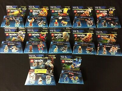 Lego Dimensions Lot of 12 Brand New Box Sets Fun Packs, Level Packs New In Box