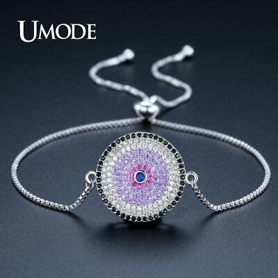UMODE New Fashion Chain & Link Bracelets for Women Jewelry Round Colorful CZ