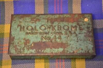 Vintage Green Metal HOLO KROME Box w/16 Allen Wrenches-3 with Pry Tips